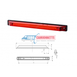 Feux de gabarit LED 12/24V LONG ROUGE