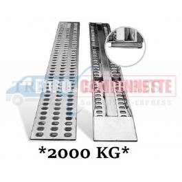 2x Rampes de chargement en métal galvanisé 255x33cm 2T.
