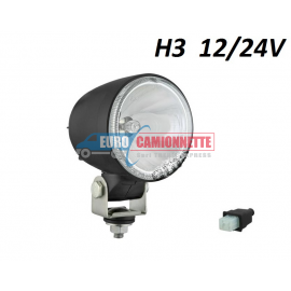 Phare Halogènes longue portée H3 12/24V Feu de route