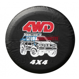 "Housse de roue de secours  ""4WD""O 78cm"