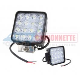 Phare de travail halogène à 16 LEDS 12/24V CARRE