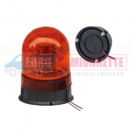 Gyrophare FIXE à LED 12V 24V 18x3W