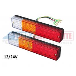 2 x Feux Arrière LED / 40Led Univesel 12/24V pour Remorque Camion Etc.