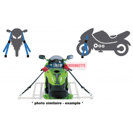 Sangle d'arrimage pour guidon moto