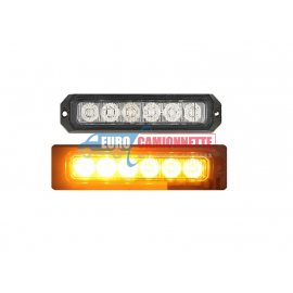 Feux de pénétration - Stroboscope 6x Led 12/24V Orange