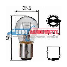 """10 x Ampoules """"Trifa Germany"""" P21/5W BAY15D Position Arriere Stop Frein 24V"""
