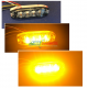 Feux de pénétration Stroboscope LED extra plat !