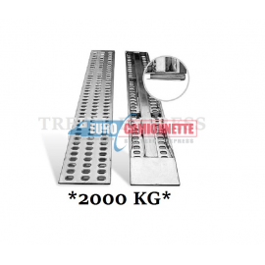 2x Rampes de chargement en métal galvanisé 205x31cm 2T.