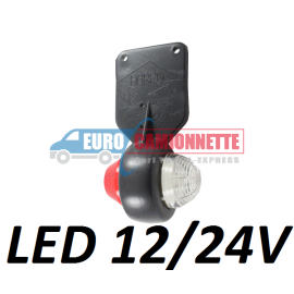 Feuxde gabarit souple led 12/24v   blanc / rouge