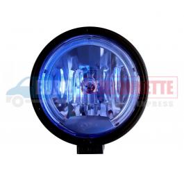Phare longue portée rond H1 Veilleuse Led - bleu