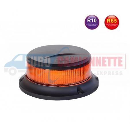 Mini gyrophare LED magnétique effet flash 12/24V