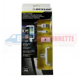 Support de téléphone, adaptateur et câble micro USB DUNLOP