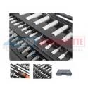 Coffret clés à cliquets 108 pièces 1/2 &1/4 en Acier Chrome-Vanadium