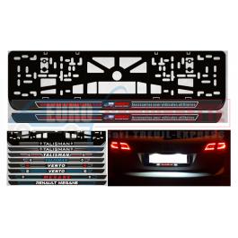Supports Cadre pour plaques d'immatriculation Personnalisée LED