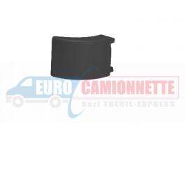 Embout noir en plastique pour barres de protection latérale en aluminium