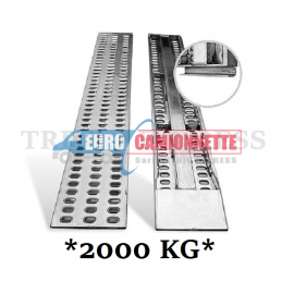 2x Rampes de chargement en aluminium 200x31cm 2T.