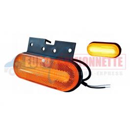 Feu de gabarit a LED 12/24V orange Universelle avec support