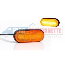 Feu de gabarit a LED 12/24 V orange Universelle pour camion, remorque, benne