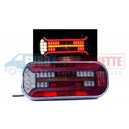 Feux arrière droit ou gauche à LED 12-24V 6 Fonctions universel pour remorque camions etc.