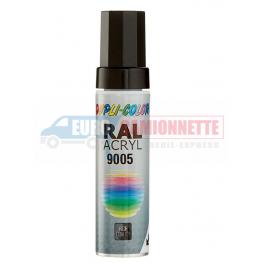 Stylo retouche noir brillant RAL 9005 12 ml DUPLI-COLOR pour pare-choc en acier 4x4