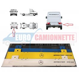 Pare-choc arrière Mercedes-Benz Sprinter 906 316 / 319 CDI Plateaux, Benne etc