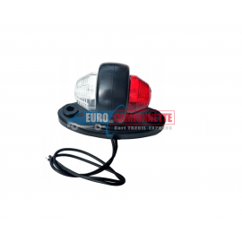 Feu de gabarit à LED 12V 24V rouge et blanc sur un support en caoutchouc
