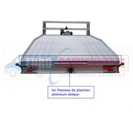 Panneau de sol en aluminium pour plateau de dépanneuse perforé 225/2050mm