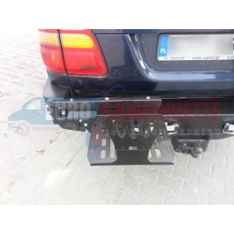 Support métallique pour jerricane 20 ou 30 Litres pour Toyota Land Cruiser J80 1989-1998