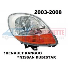 Optique avant KANGOO / KUBISTAR de 2003 à 2008 DROITE