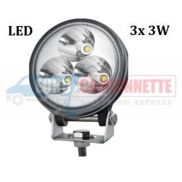 FEU LED TRAVAIL/HALOGÈNE ROUND 3 x 3W SMALL 12/24V