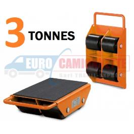 Roulettes pour transport d'équipement lourd, etc. max 3 tonnes