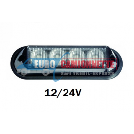FEUX DE PENETRATION LED 4xLed 12/24V Orange.
