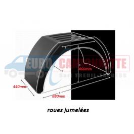 "Garde-boue roues jumelées en PVC 15"" 16"""