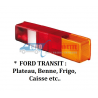 Cabochons feux FORD TRANSIT :Plateau, Benne, Frigo, Caisse,